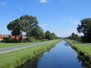 Bild: Entwässerungskanal in Moordorf (Ostfriesland)