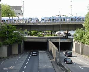 Bild: Rheinufertunnel in Köln